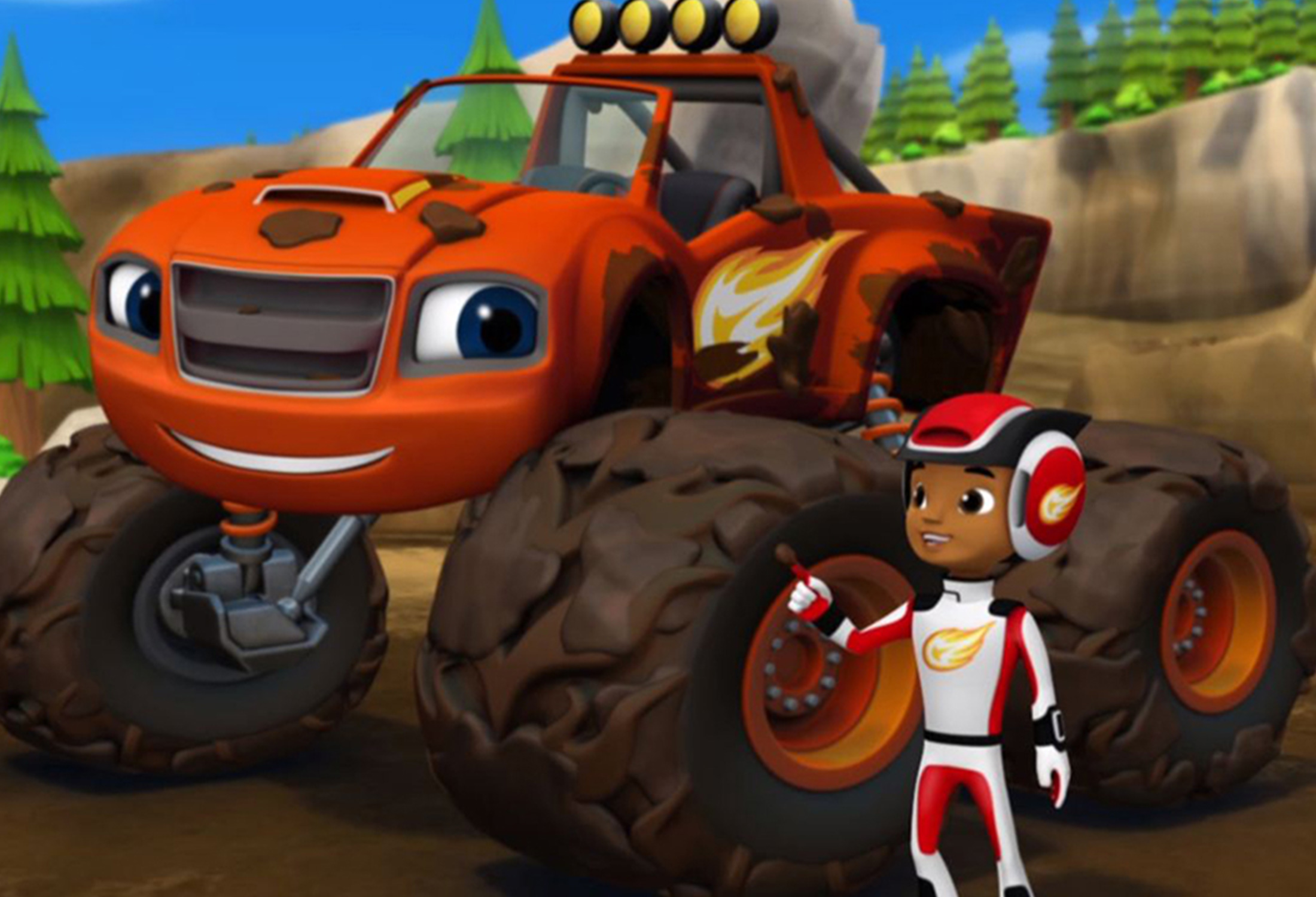 PINTA, RECORTA E COLA COM O BLAZE E AS MONSTER MACHINES
