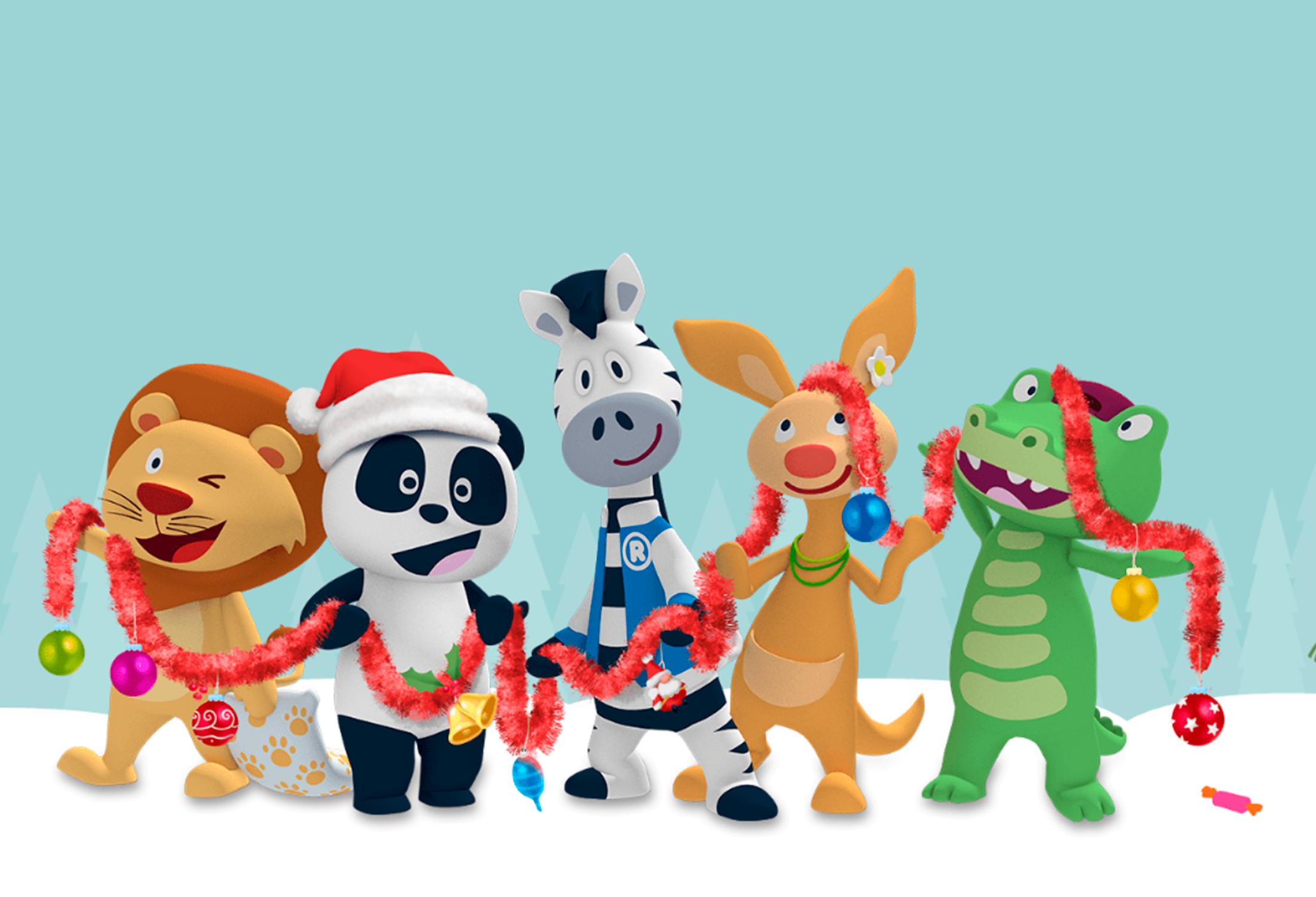 Postal de Natal do Panda