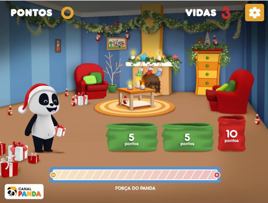 Jogo de Natal do Canal Panda